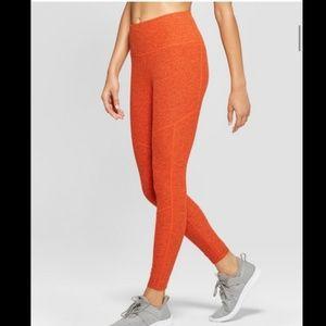 Joy Lab High Waisted Heather Orange Leggings